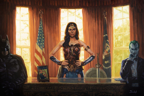 Wonder Woman in the Oval Office by Artist Bucket