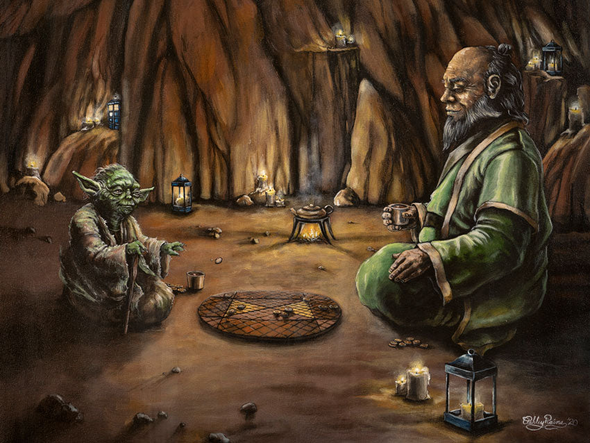 Yoda & Iroh Original Painting by Ashley Raine