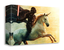 "Load image into Gallery viewer, ""Unicorn Charge"" by Artist bucket - PAPER & CANVAS AVAILABLE"