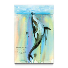 "Load image into Gallery viewer, ""WHALELALA"" by Lora Zombie - Framed Art Block"