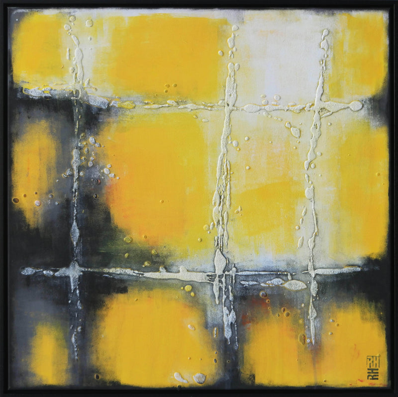 My Yellow Square - Incl. Frame - Art Sleuth
