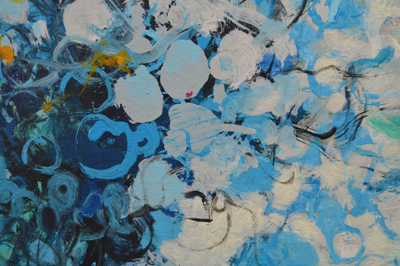 """Abstract Composition in Blue"" - Art Sleuth"