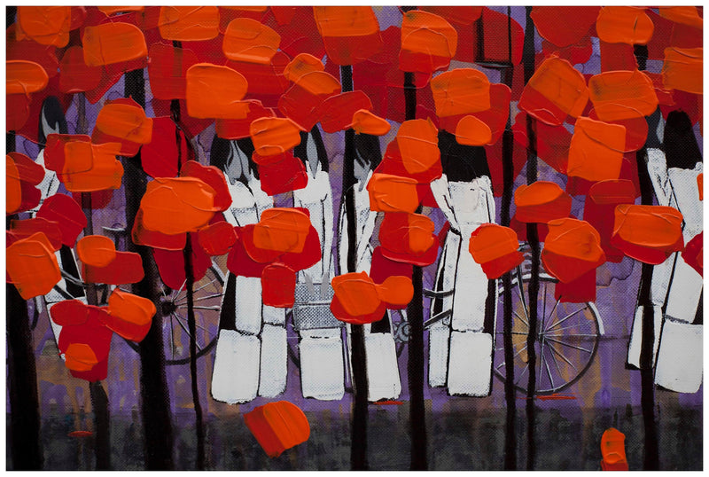 Rows of red trees #4 - Art Sleuth