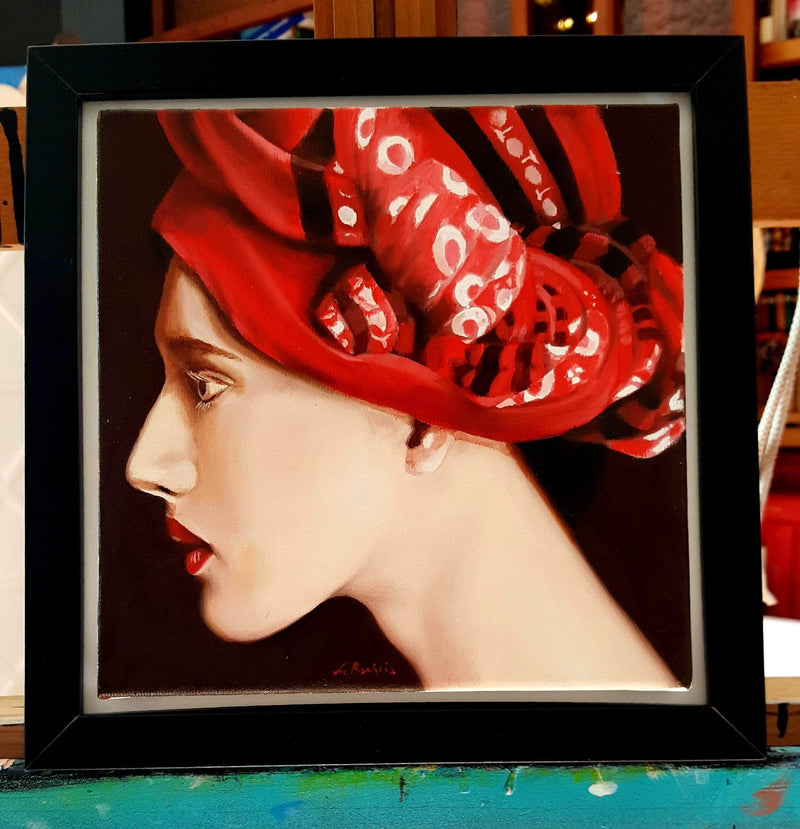 WOMAN WITH TURBAN - Art Sleuth