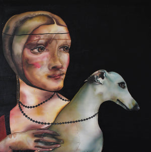 """Lady with Whippet"" after L.  da Vinci - Art Sleuth"