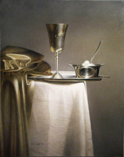 Red wine, silver and gold - Art Sleuth