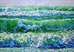 Ocean waves - Art Sleuth