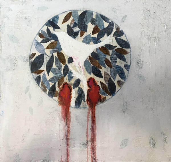 Birds on a bloody circle - Art Sleuth