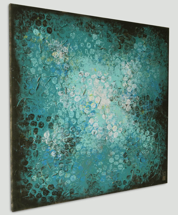 Blue Black Bubbles - Art Sleuth