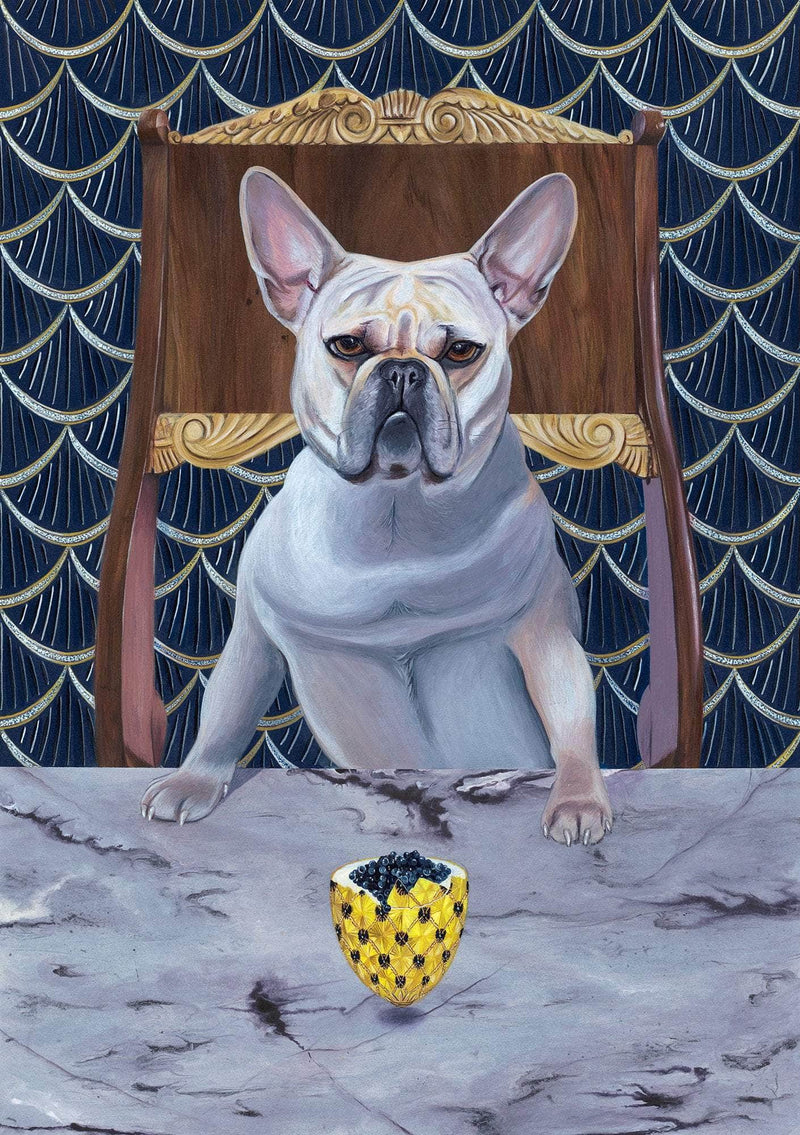 Diamond from ruff (limited edition print), original size - Art Sleuth