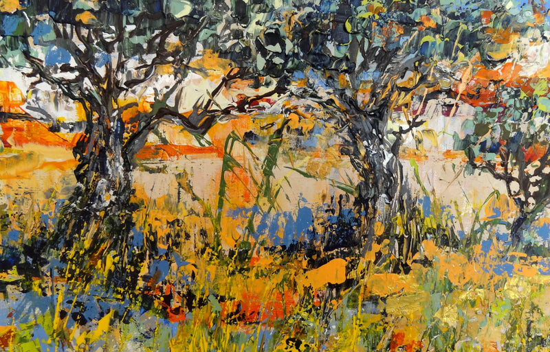 Wild flowers near the olivetrees - Art Sleuth