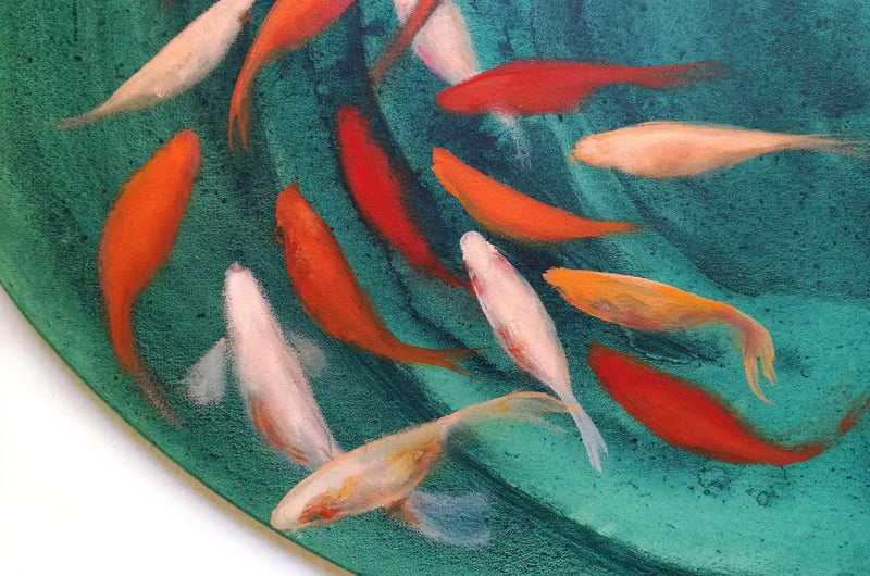 Goldfishes in motion - Art Sleuth