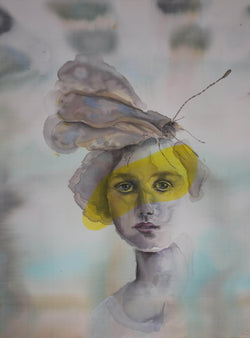 Lady with Fukushima Butterflies - Art Sleuth