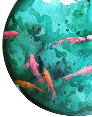 Pink fishes - Art Sleuth