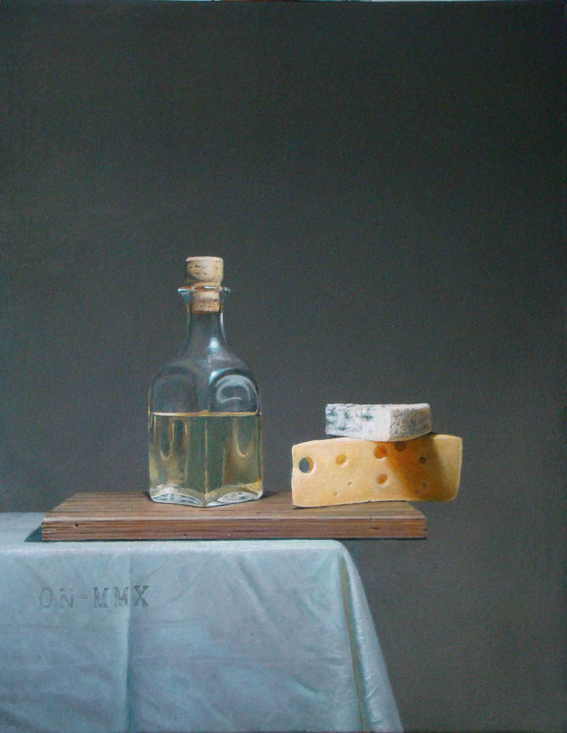 White wine with cheese - Art Sleuth