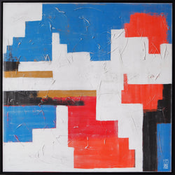 Abstract Orange Mix - Incl. Frame - Art Sleuth