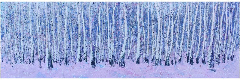 Birches, large diptych (2020) - Art Sleuth