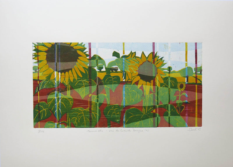 tournesols - vers La Grande Preugne (1) -Limited edition 8/12 - Art Sleuth