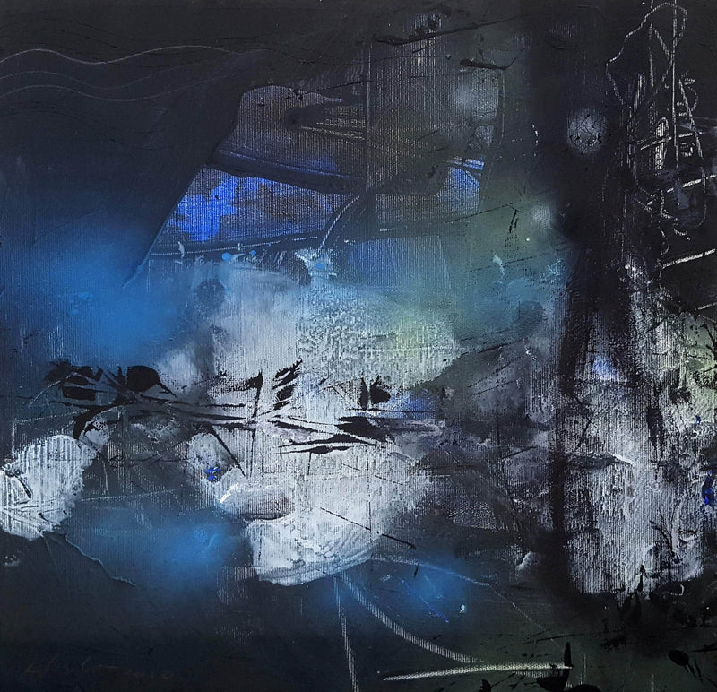 UNIQUE ABSTRACT FASCINATING DARKSCAPE BY MASTER PAINTER - Art Sleuth