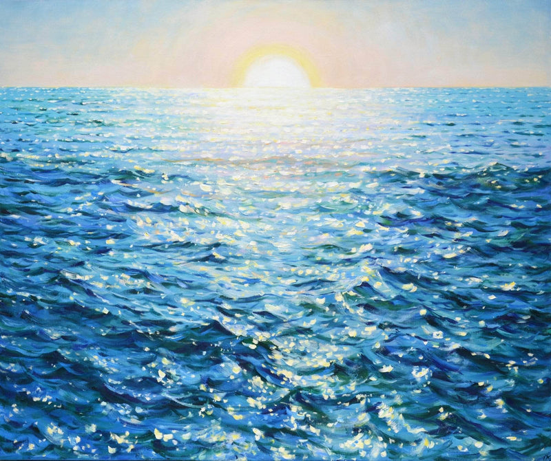 Sunrise over the ocean - Art Sleuth