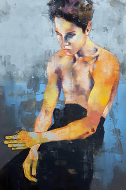 male figure with blue 3-20-20 - Art Sleuth