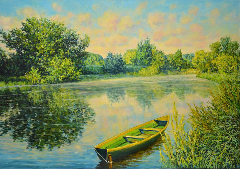 Morning on the river. - Art Sleuth
