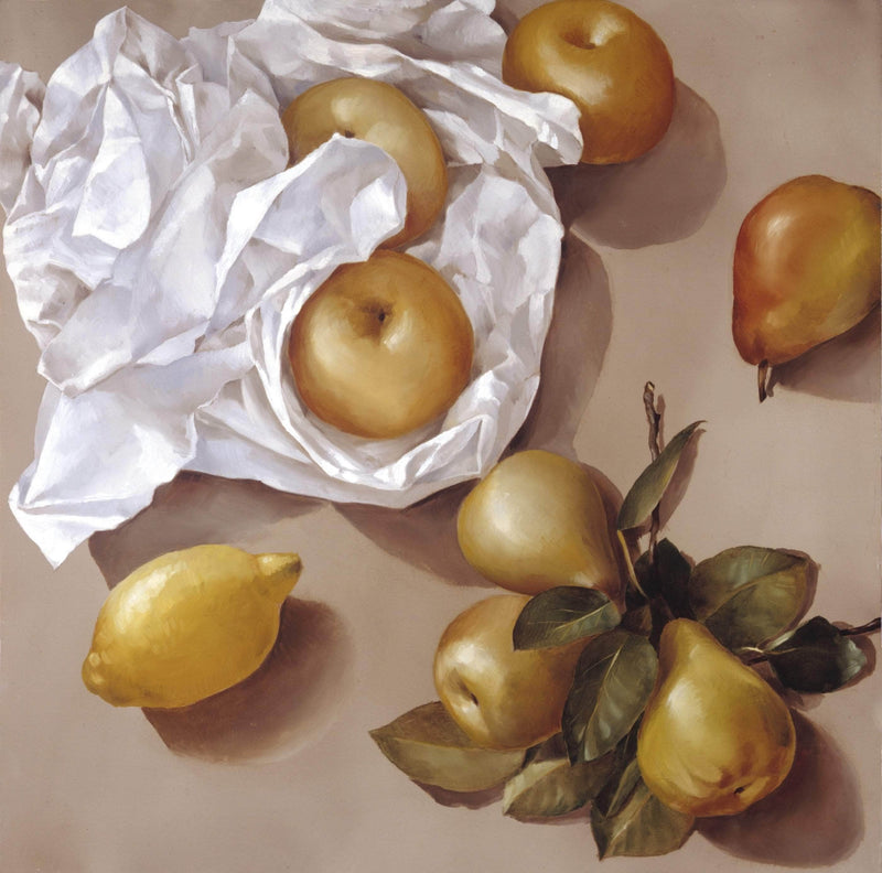Asian Pears and Lemon - Art Sleuth