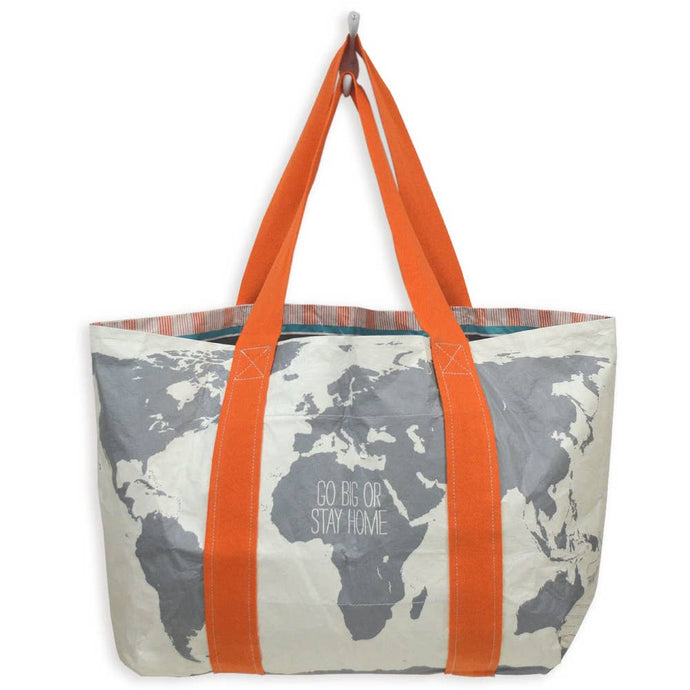 Write-On Travel Tote: World Map