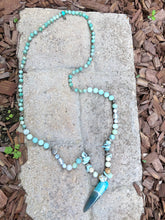 Load image into Gallery viewer, Amazonite Spike Necklace