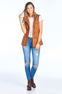 Hooded Vest - Cinnamon