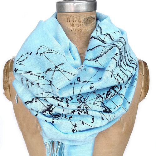 Milky Way Star Chart Pashmina. - HIDE & LACE
