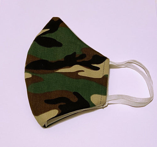 Face Mask with Filter - Camo - HIDE & LACE