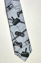 Load image into Gallery viewer, Video Game Controllers Necktie. Control Freak tie - HIDE & LACE