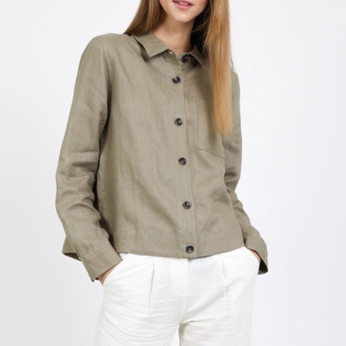 Linen Shirt Jacket - HIDE & LACE