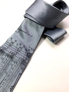 Enigma Machine Silk Necktie - HIDE & LACE