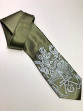 Load image into Gallery viewer, Ex Libris Necktie, Book Print Silk Tie