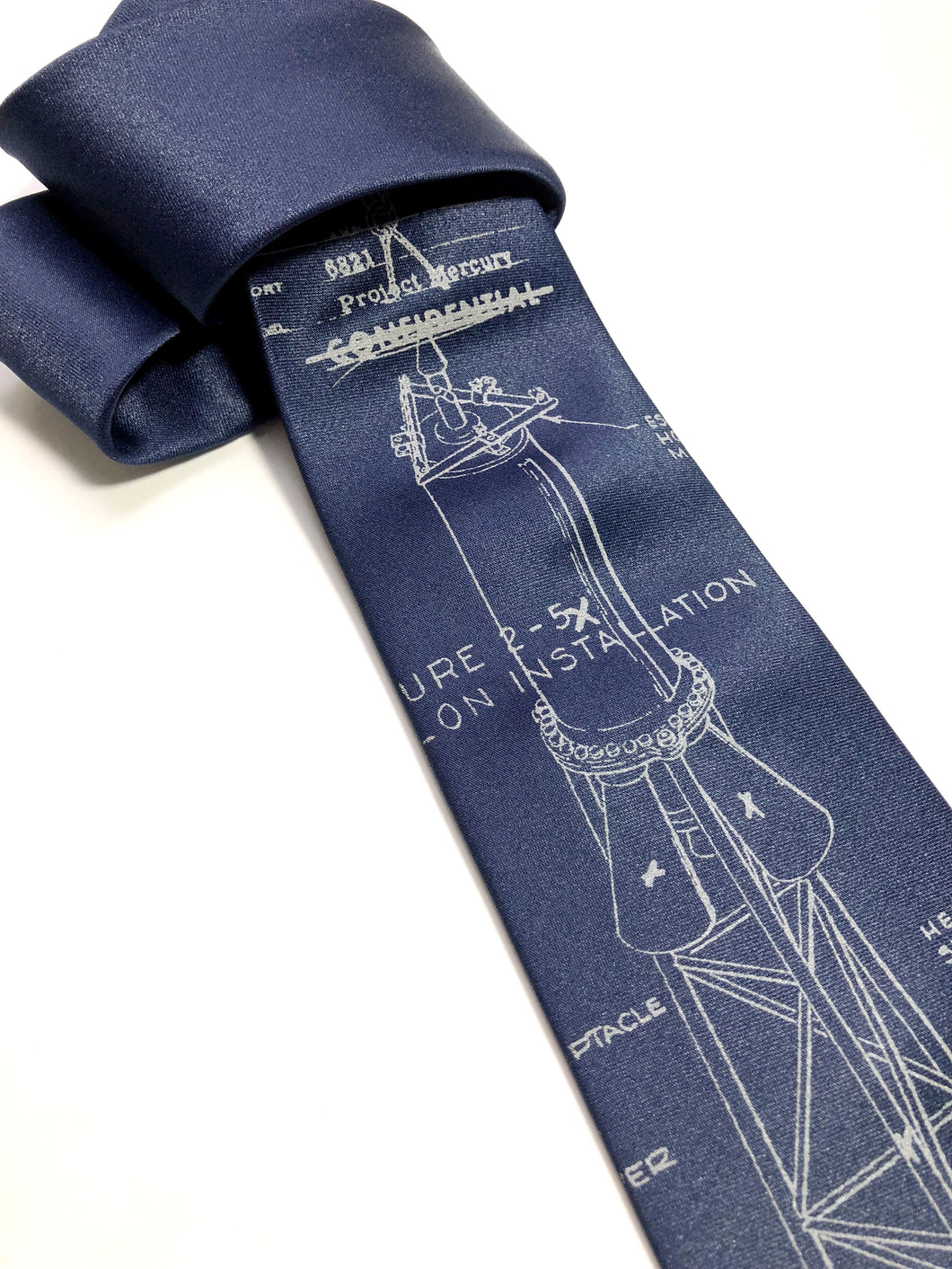 Project Mercury Necktie. NASA Space Program Tie