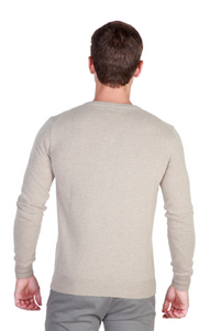 Wool Blend Pullover V-Neck Sweater