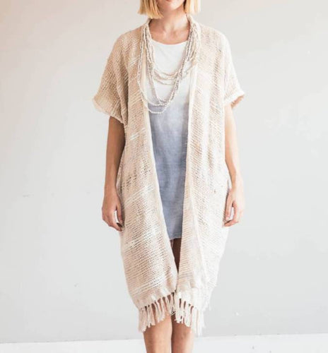 Srey Long Vest - Natural - HIDE & LACE