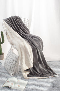 Dark Gray - Sherpa Blanket