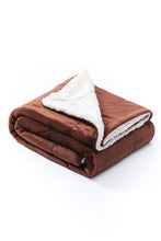 Load image into Gallery viewer, Dark Brown - Sherpa Blanket