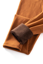 Load image into Gallery viewer, Caramel - Fur Lined Leggings
