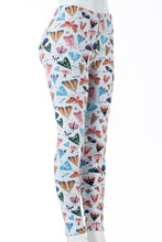 Load image into Gallery viewer, Colourful Moths - Fur Lined Leggings