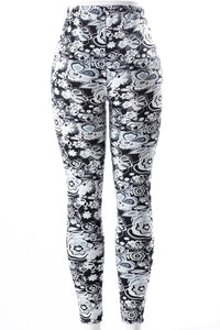 Flowerism - Fur Lined Leggings