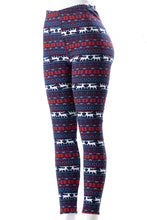 Load image into Gallery viewer, Christmas Moose - Fur Lined Leggings