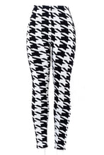 Load image into Gallery viewer, Black & White Edgy - Fur Lined Leggings