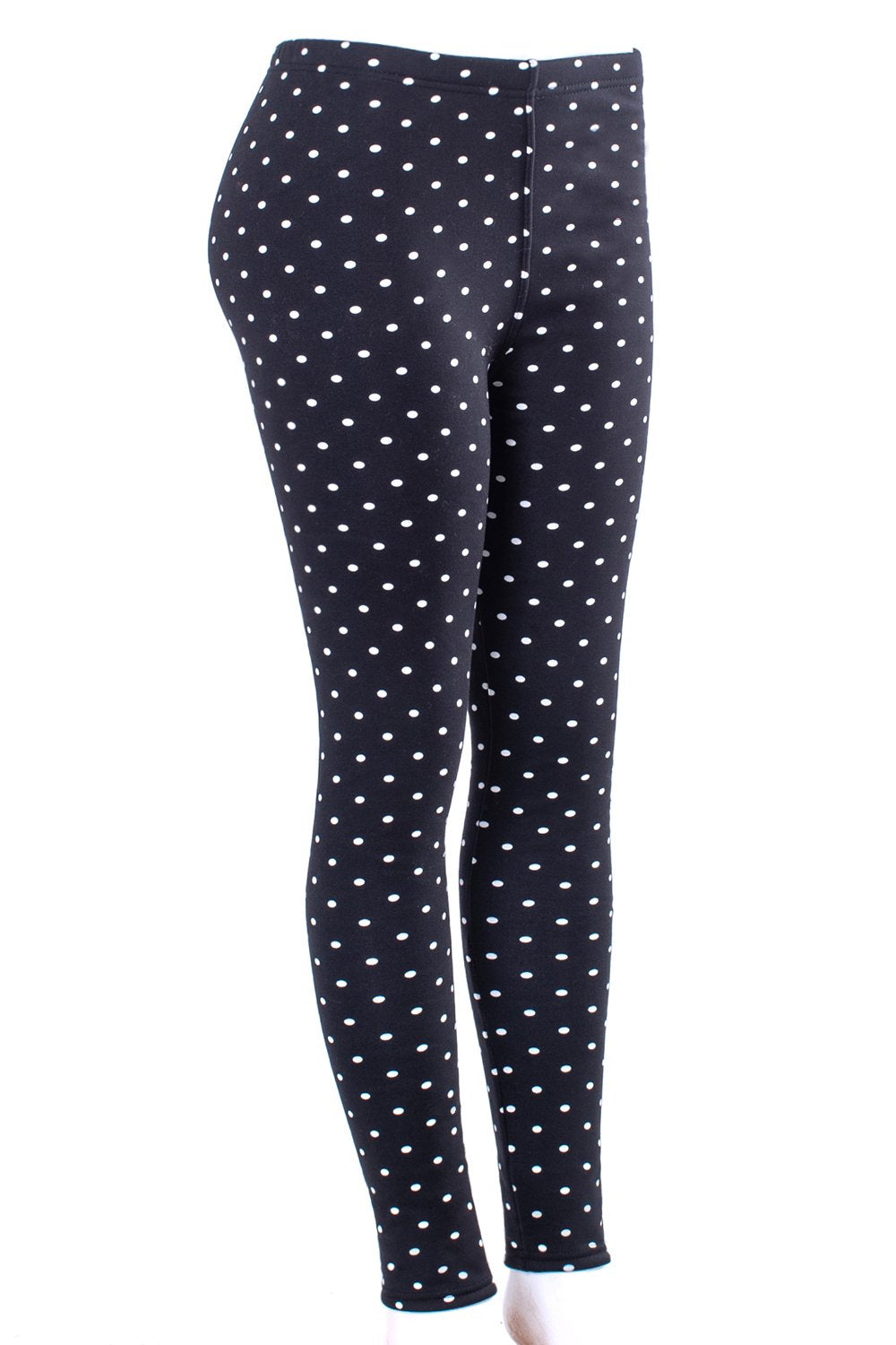 Mini Polka Dots - Fur Lined Leggings