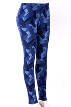 Load image into Gallery viewer, Blue Palette - Fur Lined Leggings
