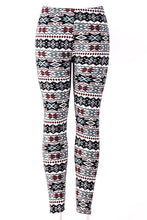 Load image into Gallery viewer, Red Snowflakes - Fur Lined Leggings