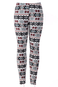 Red Snowflakes - Fur Lined Leggings